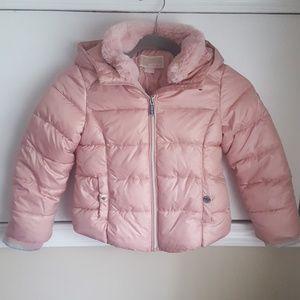 Michael Kors Girls Pink Blush Puffer Winter Jacket